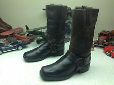 FRYE MOTORCYCLE BROWN LEATHER WESTERN COWBOY TRAIL BOSS RANCH WORK BOOTS 8W