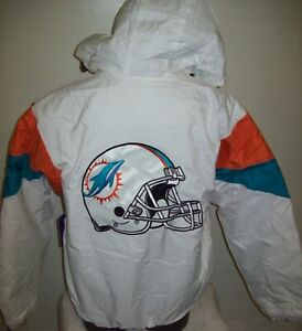 MIAMI DOLPHINS NFL Starter Hooded Half Zip Pullover Jacket M L XL 2X  WHITE