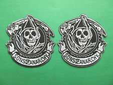 SONS OF ANARCHY SOA REAPER MOTORCYCLE CLUB HARLEY DAVIDSON BIKER VEST PATCHES