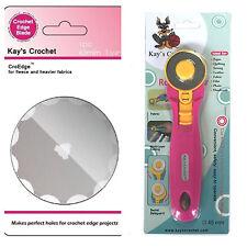 Kay's Crochet Edge Skip Fleece Blade with 45 mm Rotary Cutter CroEdge Blade