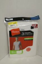 Hanes V-Neck Shirts T-SHIRTS SMALL White 3 Pack Tagless NEW
