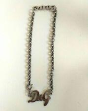 collana dolce e gabbana logo argento