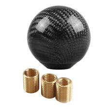 Car Gear Shift Knob Shifter Lever Round Ball Shape Carbon Fiber With Adapters