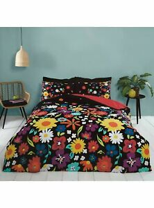 Brighton Flowers Duvet Cover Set, bright cheerful floral King Size