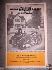 A.J.S. AJS PROSPEKT 1931 250 350 400 500 1000 CCM TOUREN MOTORRAD LONDON ENGLAND