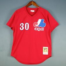 100% Authentic Mitchell & Ness Tim Raines Expos BP Jersey Size 40 M Mens