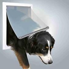 Trixie Pet Products 2-Way Locking Dog Door, Medium to X-Large Dogs, White