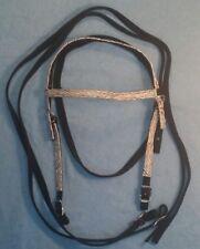 New Nylon & Zebra Print Western Bridle (Headstall & Reins)Horse Tack~Aqha~Equine