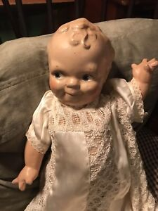 Old Composition Scootles  Baby Doll 15 Inches High