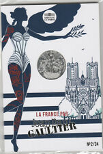 Jean Paul Gaultier Sexy Angel Silver Coin on Card Reims Champagne France