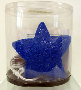 New Star Shaped Blue Desk Table Glow Lamp With Chrome Stand Night Light