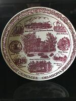 "Vernon Kilns Okmulgee Oklahoma Commemorative plate, 10.5"" Vintage Rare"