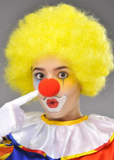 Circus Clown Yellow Curly Pop Wig