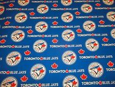 "TORONTO BLUEJAYS - MLB - 100% COTTON 1/2 YARD  PIECE BRAND NEW  DESIGN ""GO METS"""