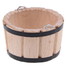 1:12 Dollhouse Miniatures Wooden Basin Wooden Barrel Furniture Accessories_QA