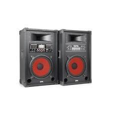 (RICONDIZIONATO) COPPIA CASSE MASTER SLAVE USB SD MP3 800W ATTIVE AMPLIFICATE AL