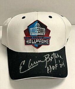 Elvin Bethea Signed Pro Football Hall of Fame Cap Beckett BAS HOF Oilers H39112