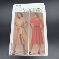 Simplicity Vintage Sewing Pattern #6938 Misses / Petite Pullover Dress Size 6-10