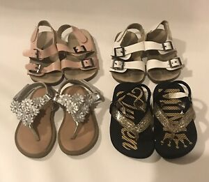 Lot Of 4 Girls Infant/Toddler Casual Shoes Size 4 Old Navy Children's Place