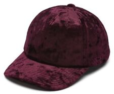 141ac2e76d0 VANS OTW (GLAZIER CRUSHED VELVET) WOMENS ADJUSTABLE STRAP HAT CAP BURGUNDY  NWT