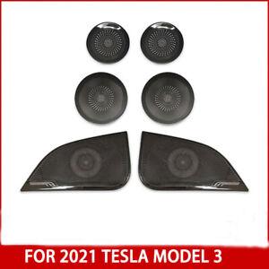 For 2021 Tesla Model 3 AB Pillar Front Rear Door Stainless Speaker Cover 6pcs