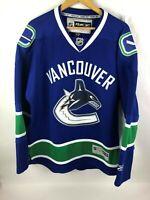 RBK Reebok CCM NHL Vancouver Canucks Hockey Jersey Home Mens Size Large