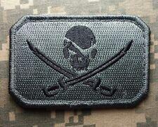 PIRATE SKULL & SWORDS FLAG CALICO JACK ARMY USA MILITARY DARK ACU HOOK PATCH