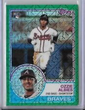 2018 Topps Series 1 Ozzie Albies 1983 Retro Green Parallel /99 Silver Pack RC 26