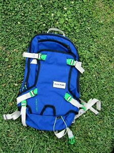 """Dakine 11L Heli Pack  Backpack Black Blue 12""""x 20"""" Excellent"""