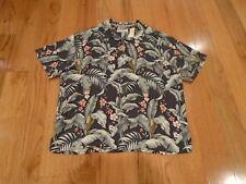 NWT Tommy Bahama Mens 1XB Hawaiian Camp Shirt - Silk Floral Pattern - Extra Big