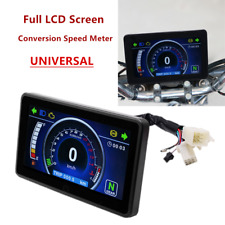 Universal Refit Motorcycle Full LCD Screen Digital Odometer Onetouch Speed Meter