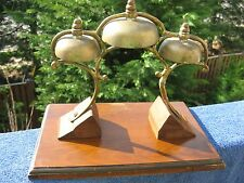 Antique Brass Victorian Threefold Hand Bell