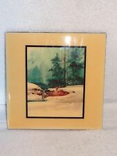 Michael Atkinson Powder Ron- Man Skiing Down Hill- Hand Made Tile- Made in USA