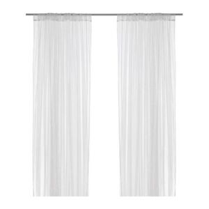 NEW IKEA LILL 1 PAIR OF SHEER LACE CURTAINS WHITE (NETTED)