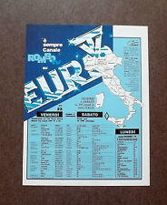 H885- Advertising Pubblicità -1982- EURO TV , CANALE ROMBO TV