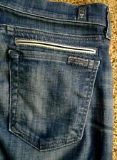 7 for All MANKIND Jeans CROP DOJO Stretch Zip Fly Low Rise sz 28 32