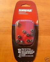 10 SMALL Foam Sleeves Ear tips SHURE EABKF1-10S PA910S