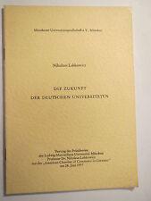 Nikolaus Lobkowicz-L' avenir des universités allemandes