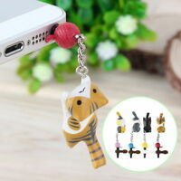 Newest Cat Playing Ball 3.5mm Anti Dust Earphone Jack Plug Stopper For Phone  EM