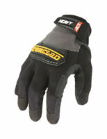 Ironclad  Black/Gray  Men's  Medium  Synthetic Leather  Heavy Duty  Gloves