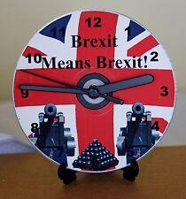 NUOVO Fai da Te Orologio da CD KIT. brexit significa brexit! parete o scrivania orologio. grande regalo.