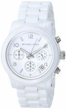 Michael Kors MK5161 Runway White Ceramic Chronograph Ladies Watch