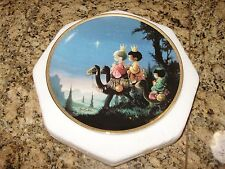 "Precious Moments Bible Story plate ""They Followed the Star"" 1991 Euc"