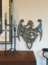 """Dragon with Celtic inspired Design, Haitian Metal Wall Artwork 14"""" x 17"""""""