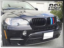 2008-2013 BMW E71 X6 X6M M Look /// Tri Matte Black Front Grill Grille