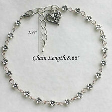 New Charm Tibetan Silver Plated Daisy Chain Flower Anklet/Ankle Bracelet GiftID8