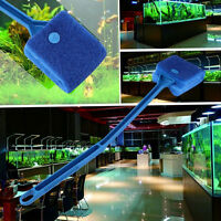 Aquarium Fish Tank Algae Cleaner Glass Plant Easy 2 Head Cleaning Brush