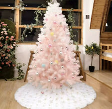 "Christmas Tree Skirt 50"" Golden Snowflake White Decorations Season Xmas Holiday"