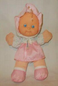 Vintage 1994 Fisher Price Puffalump Pink Rattle Doll Stuffed Plush