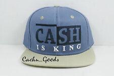 Rocksmith Snapback Cash is King Blue Cap Adjustable